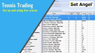Betfair trading - Setting up and using live Tennis scores via Bet Angel