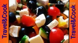 Вкусные салаты. Греческий салат с сыром фету. Greek salad. Греция