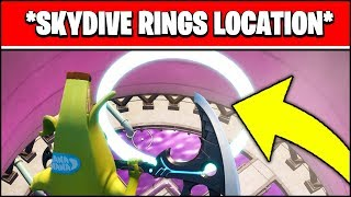 Skydive Through Rings In Steamy Stacks Location (Fortnite Challenge Guide) Video