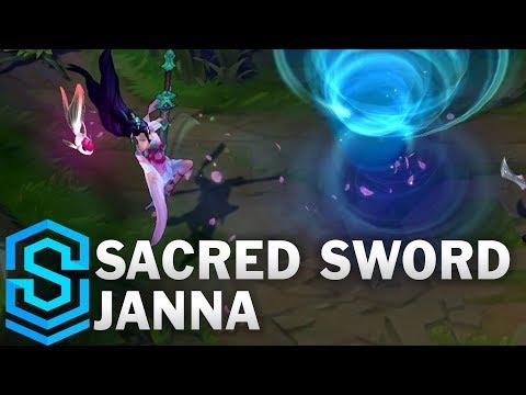 Sacred Sword Janna Skin Spotlight - League of Legends