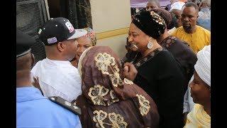 See How Ronke Oshodi Oke Hug Mc Oluomo At His House As He Returns Back To Nigeria