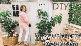 DIY Un rincón de mi JARDÍN: Como TRANSFORMAR una caseta. Transform your garden stall