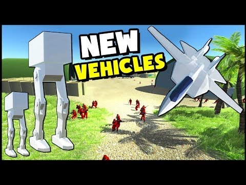 NEW Mech Walkers & Jet Fighter! Tomcat & AT-ST (Ravenfield New Update Gameplay)