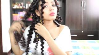Спиральная завивка Straw Curls Method 5 No heat Spiral Curls Plus an Update