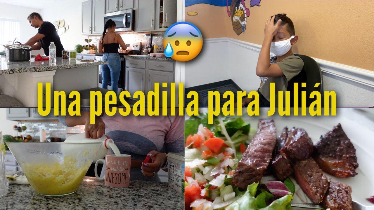 EN EL DENTISTA CON JULIAN 😥 | RECETA DE CARNE CON CAFE 😋 | Familia Jaquez