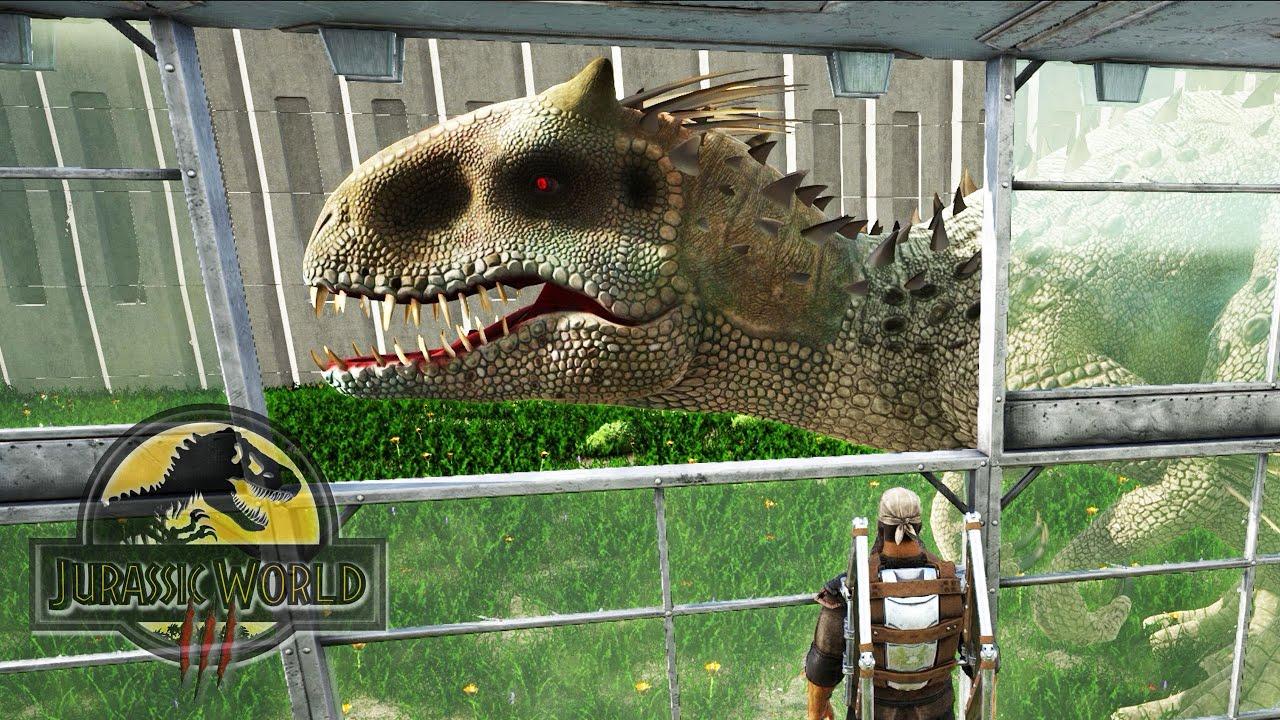 RECINTO DE INDOMINUS REX PRIMER DINOSAURIO HIBRIDO! RECINTO DE MAXIMA SEGURIDAD Jurassic World 3 ARK