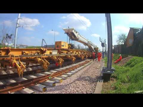 Lee Valley Rail programme - switches and crossings installation