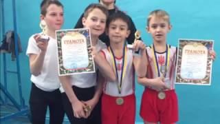 Открытый чемпионат г. Рубежное. Спортивная гимнастика. Первое место.
