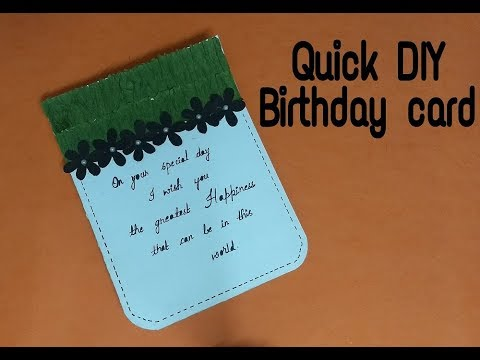 Quick Birthday Card Idea For Friend Complete Tutorial Youtube