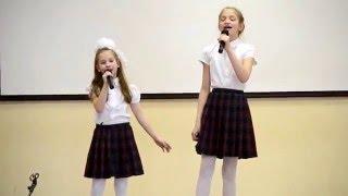 """Вокальный конкурс """"Голос-дети"""". Носова Арина и Маркова Ксения."""