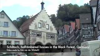 Schiltach, village with half-timbered houses, Black Forest, Germany