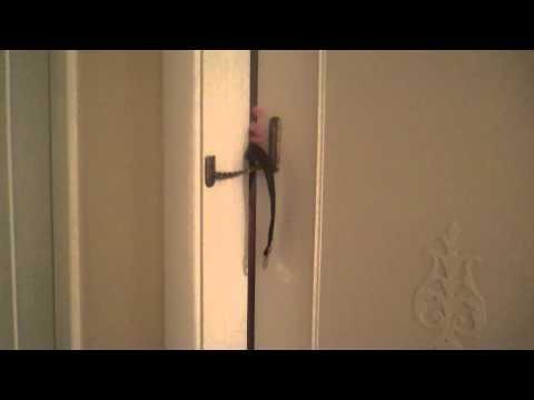 How to unlock a chain-locked door.