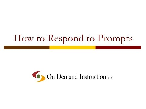 How to Respond to Writing Prompts