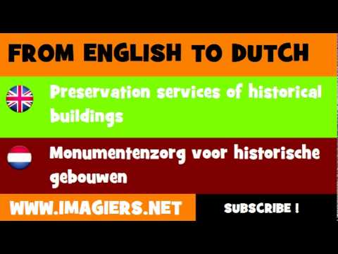 NEDERLANDS = ENGELS = Monumentenzorg voor historische gebouwen