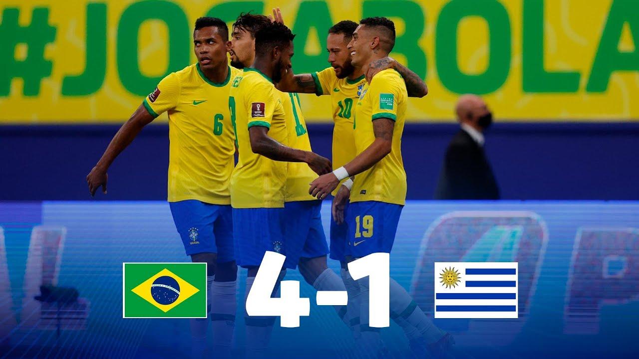 Eliminatorias   Brasil 4-1 Uruguay   Fecha 12