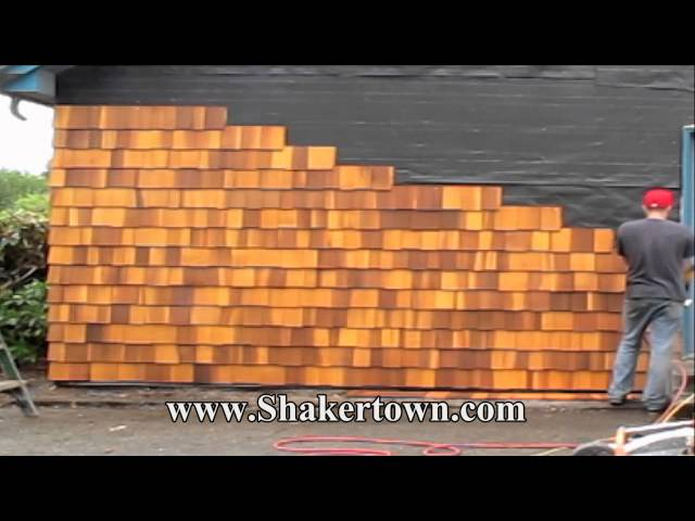 Install Real Cedar Shingles Faster Than Any Other Siding!