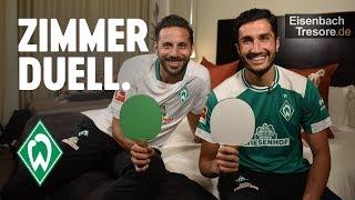 ZIMMERDUELL: Claudio Pizarro & Nuri Sahin | SV Werder Bremen