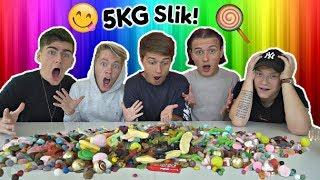 5 KILO SLIK!? (Slik Challenge) m. Jeppe Ølgaard, Jonas Droger & Tobias Møller