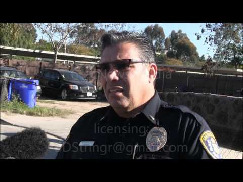 San Diego Police pursuit ends in the Mountain view area - 1/28/16