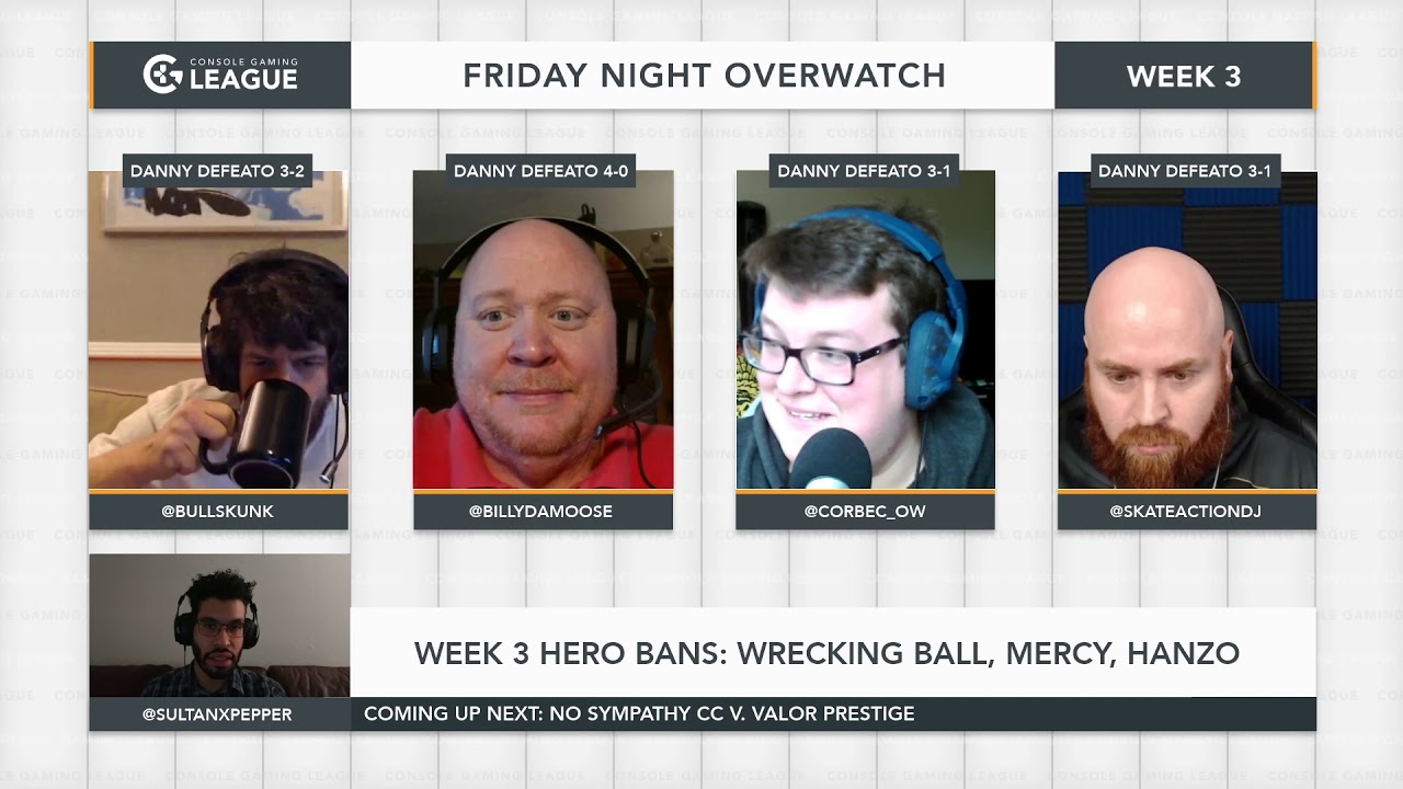 Friday Night Overwatch Week 3 - Valor Prestige vs  No Sympathy CC