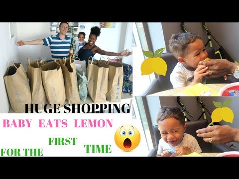 VLOG :BABY EATS LEMON FOR THE FIRST TIME || MUST WATCH REACTION || 7HOURS OF HUGE SHOPPING