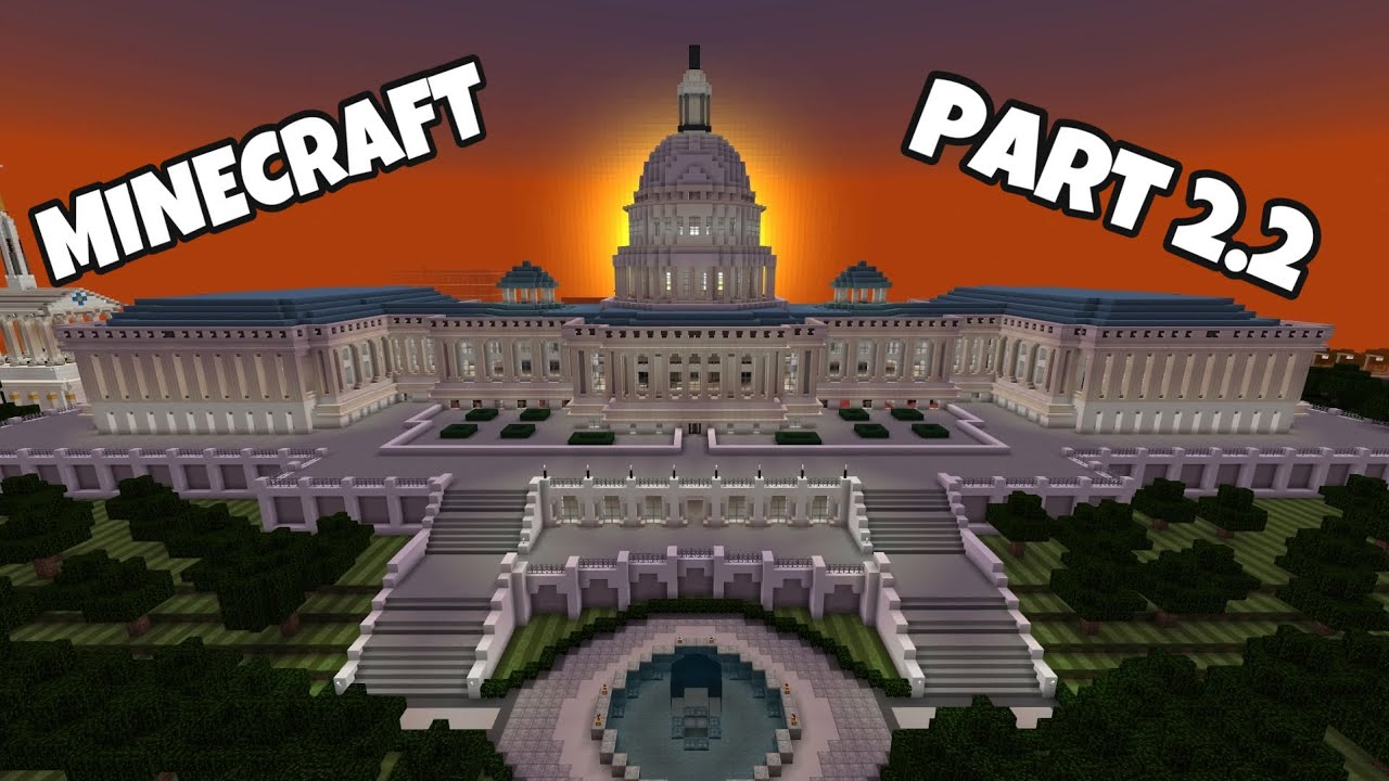 Minecraft: How to build the Capitol Building (PART 2.2)