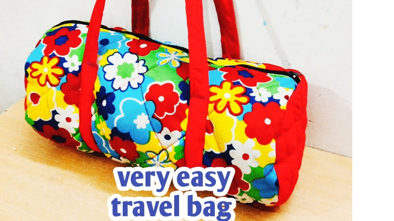 Very easy Travel bag/Handbag cutting and stitching/Zipper handbag/ lunch bag