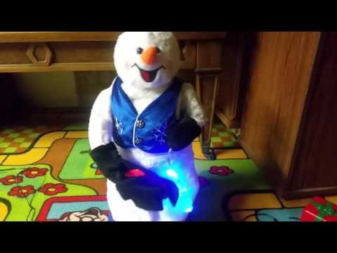 Gemmy Animated blue spinning snowflake snowman