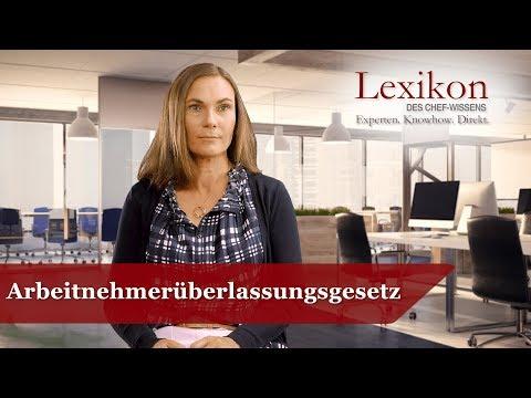 Lexikon des Chefwissens: Arbeitnehmerüberlassungsgesetz (Grundlagen Personal)
