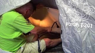 ドッペルのバックインベッドは外での組み立てでは ドッペル小型ワンタッ...