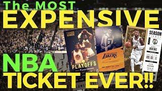 Magkano ang pinakamahal na NBA TICKET? Warriors Lakers Knicks or Boston?