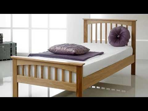 Oak Wood Platform Bed Frame India Furniture