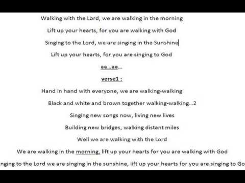 Walking with the lord song