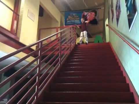 Sliding Down A Stair Rail Youtube