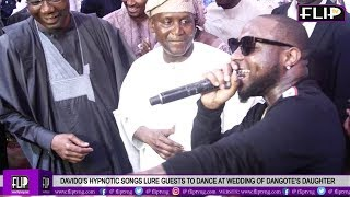 DAVIDOS HYPNOTIC SONGS LURE GUESTS TO DANCE AT WEDDING OF DANGOTES DAUGHTER