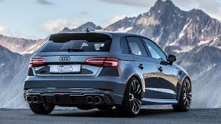 CLIMBING THE ALPS IN A 500HP(!!) 2018 AUDI RS3 SPORTBACK ABT - Nardo Gray, Black Optics etc