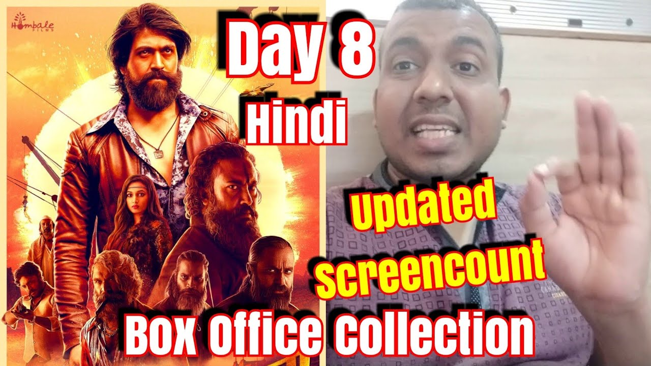 Kgf Movie Box Office Collection And Screen Count Update Day 8 In