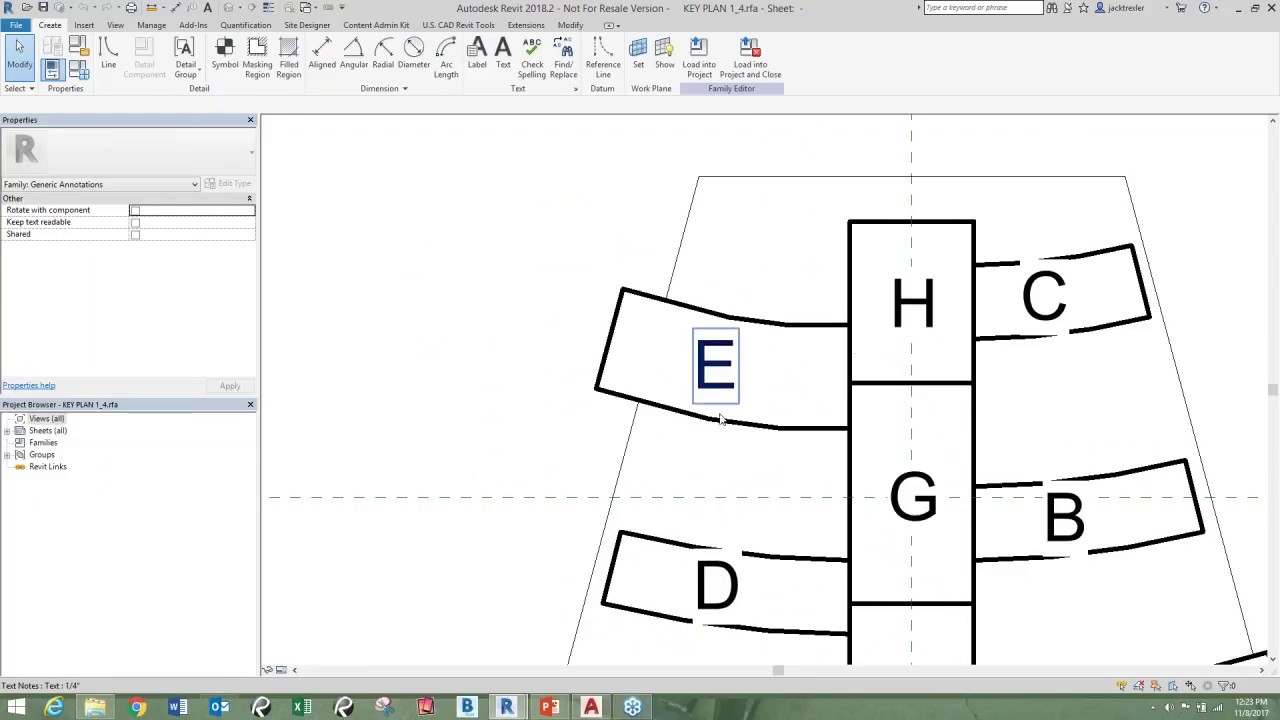 Revit Elevation Key Plan : From autocad to revit key map family youtube