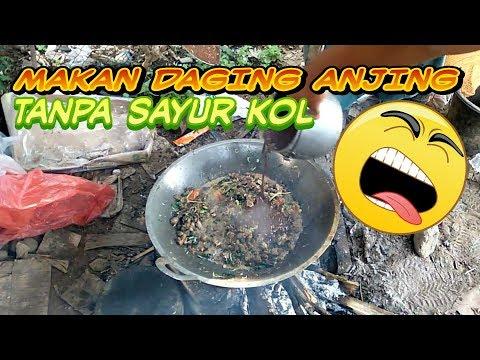 MAKAN DAGING ANJING TANPA SAYUR KOL //Erbahan Lomok-lomok Khas Karo
