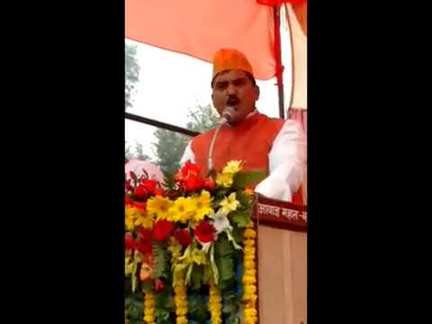Ajay Singh Harraiya 307 Speech at Parashurampur on arrival of the Parivartan Yatra in Basti