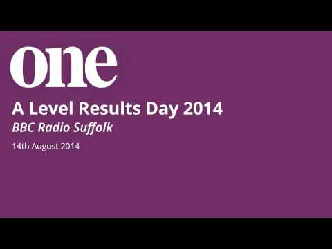 14/08/14 - Principal Alan Whittaker and students are interviewed live on air about their A Level results