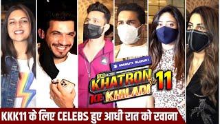 Khatron Ke Khiladi 11 Contestants Leaving For Shoot | Arjun, Abhinav, Rahul, Nikki, Divyanka, Shweta