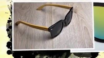 Слънчеви очила котешки очи с бамбукови дръжки Wood-Vision
