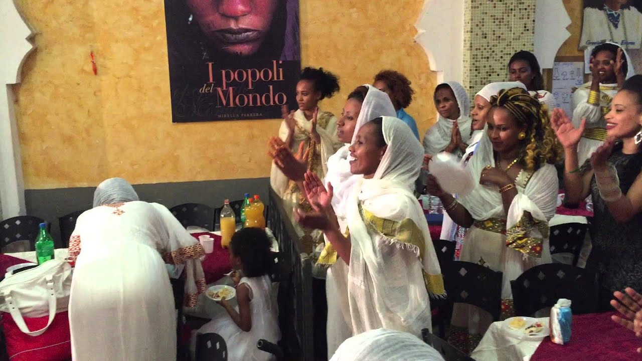 Commemorative ethiopian wedding ceremony