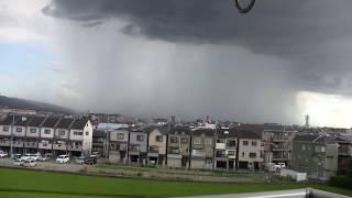 大阪府枚方市を襲ったゲリラ豪雨(Guerrilla downpour in Osaka) thumbnail