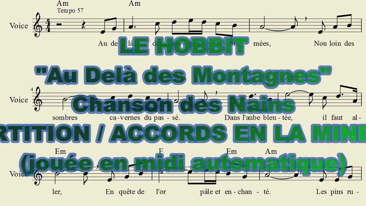 partition piano bilbo le hobbit