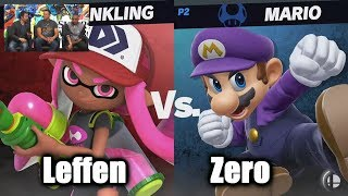 Leffen (Inkling) vs ZeRo (Mario) - Super Smash Bros. Ultimate | E3 2018