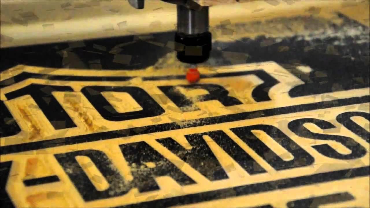 Midnight Robotics DIY CNC Harley Davidson Sign YouTube