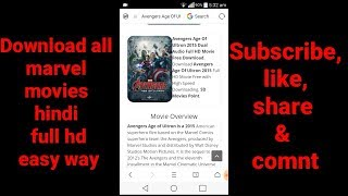 How to download all marvel movies in hindi || full hd || easy way.