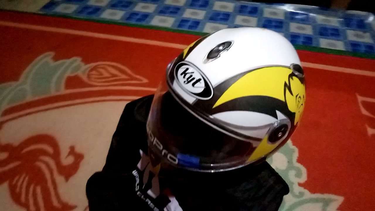 My New KYT X Rocket Helmet Sticker Striped
